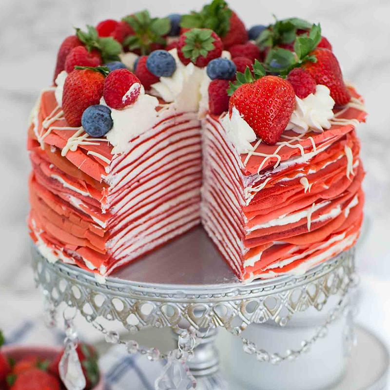 Russian Time Magazine 2018 43 Tatyanas Everyday Food - Tatyana Nesteryuk - Red Velvet Crepe Cake